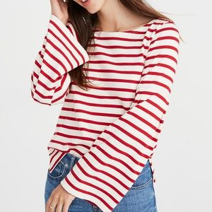 🆕️ 🍭Madewell x Armor Lux Striped Bell Sleeve Top
